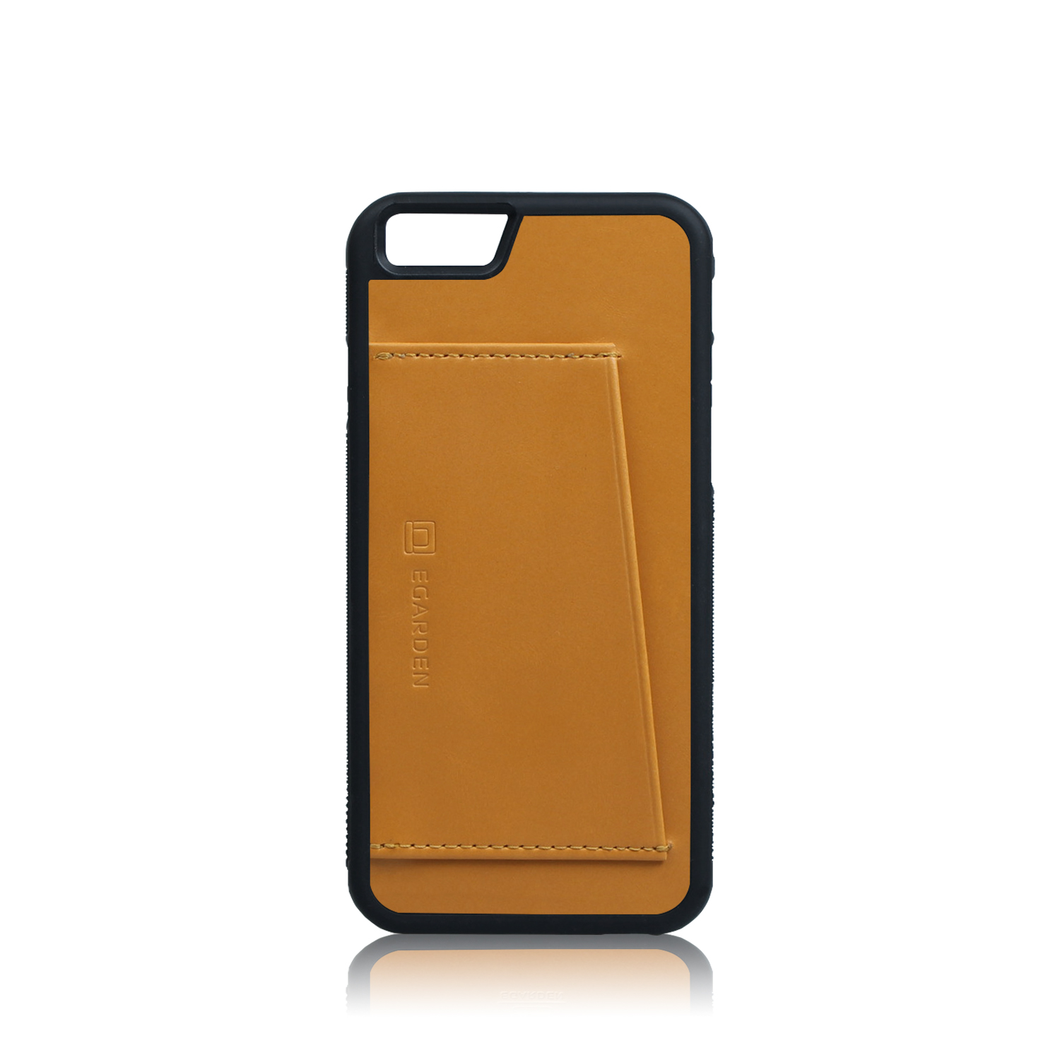 [에가든]iPhone6S/6S+ Back Cover Case- 1 Card_Tan