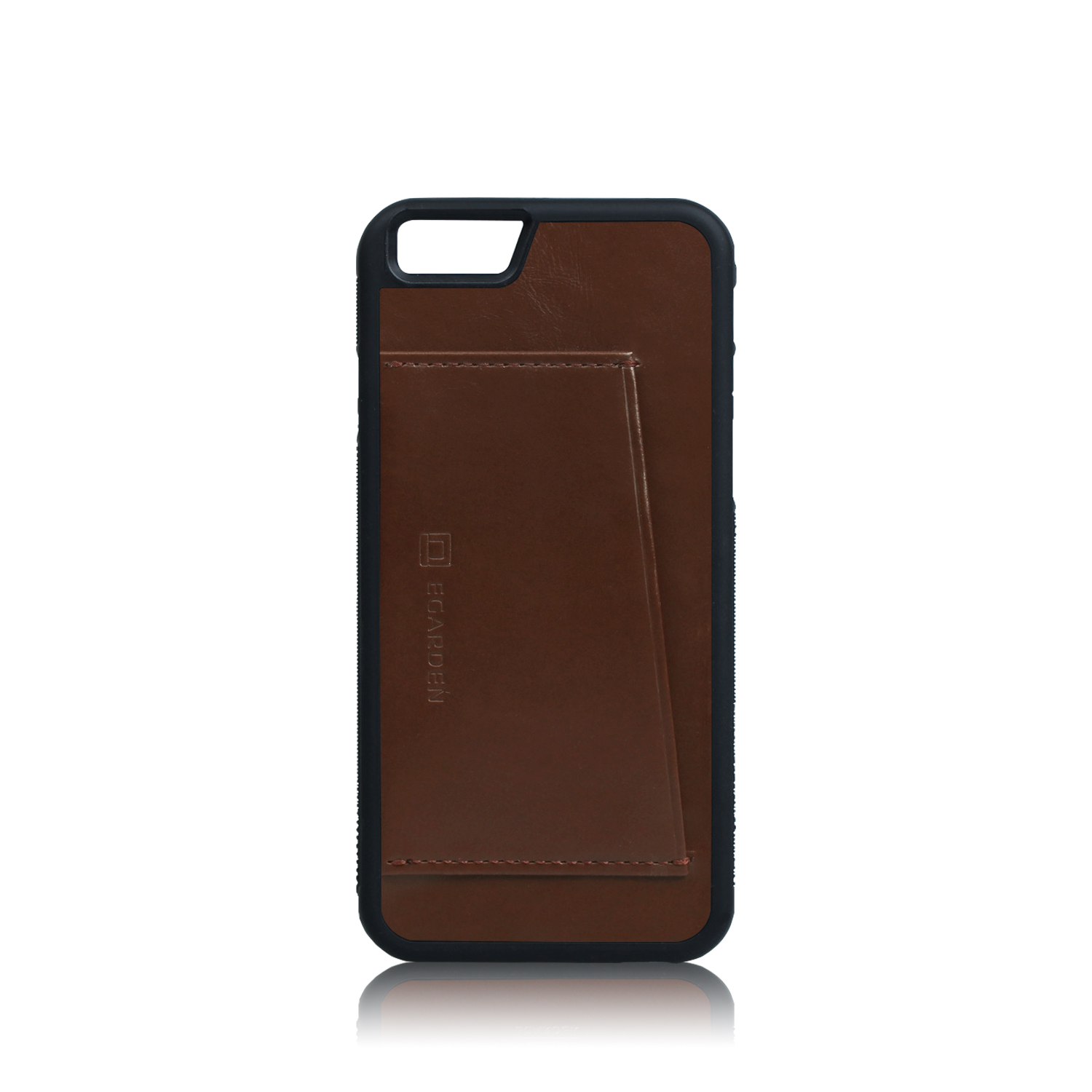 [에가든]iPhone6S/6S+ Back Cover Case- 1 Card_Brown