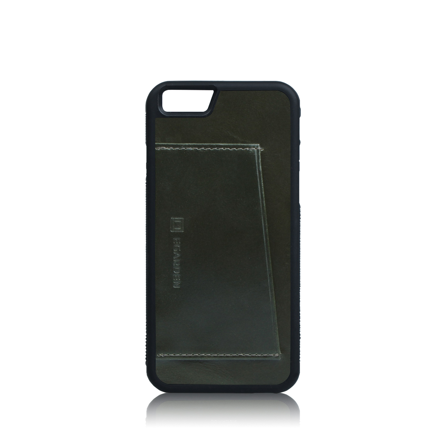 iPhone6S/6S+ Back Cover Case- 1 Card_Olive