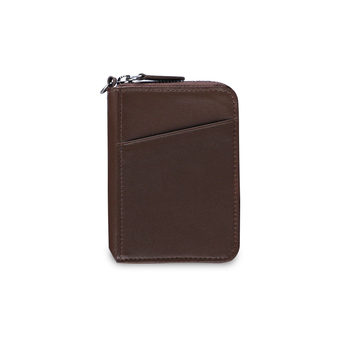 CITY ZIPPER WALLET BROWN