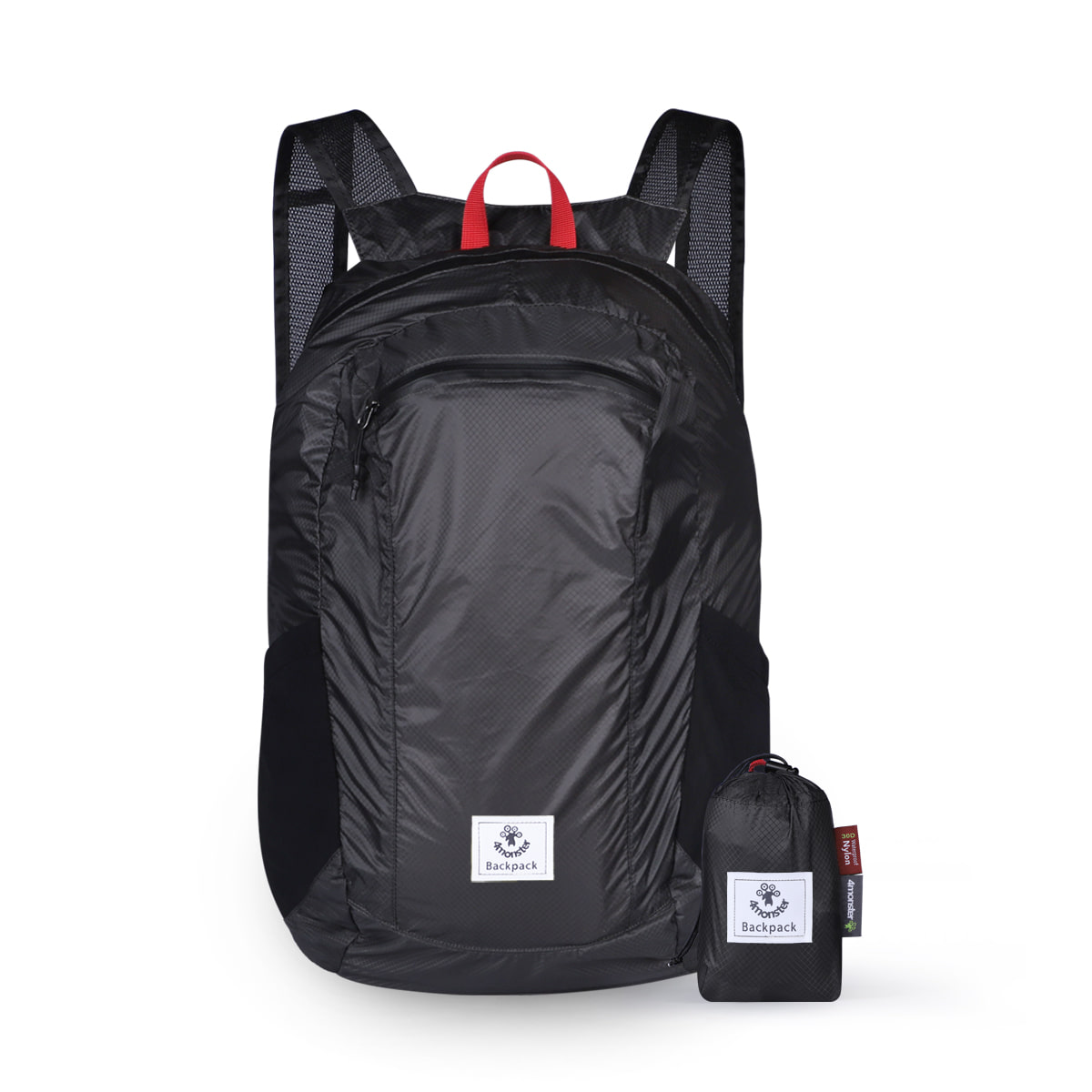 FOLDING BACKPACK 24L BLACK